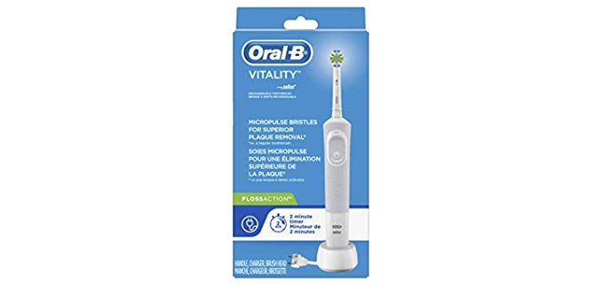 Oral-B Vitality Floss action - Basic Electric Toothbrush for Older People