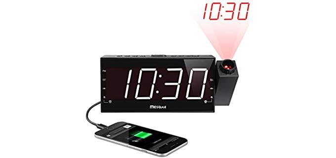 Mesqool Projection - Clock for Seniors