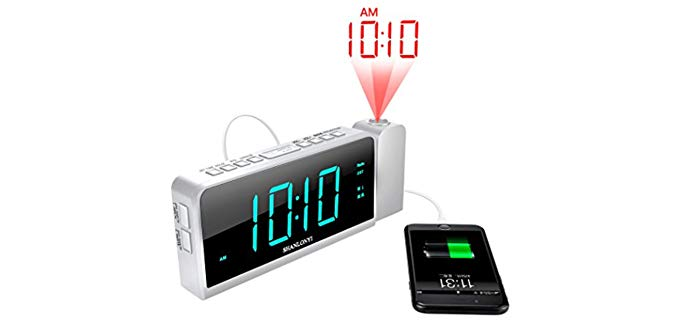 Shanlonyi Projection - Alarm Clock for Older Individuals