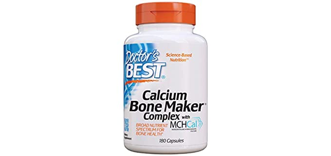 Doctor's Best Bone Maker - Calcium Complex Supplement for Seniors