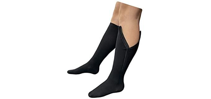 Presadee Original - Zipper Closure Compression Socks for Seniors