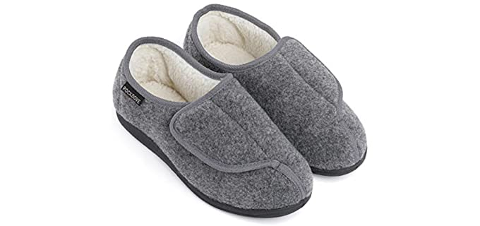 RockDove Geri-Active - Plush Slippers for Older Men