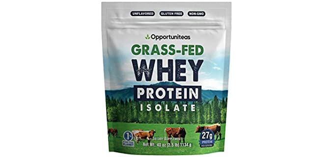 Opportuniteas Grass Fed - Whey Protein Powder for Seniors