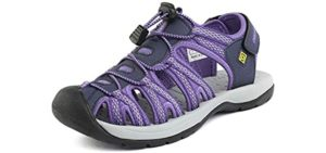 Dream Pairs Women's Adventurous - Walking Sandal for Seniors