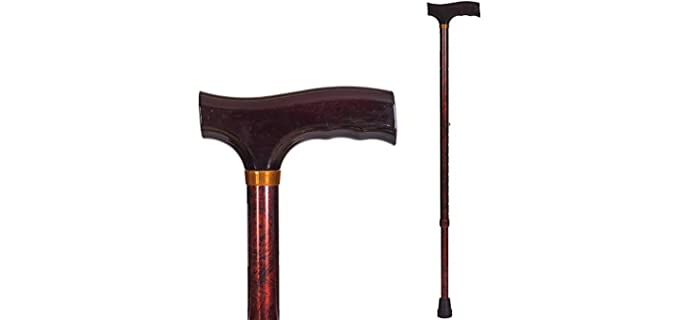 Duto_med Briggs Lightweight Aluminium - Walking Cane for Senior Persons