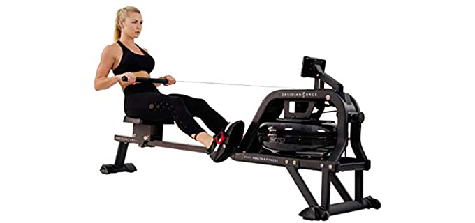 Sunny Health Rowing Machine for Seniors - Water Rowing