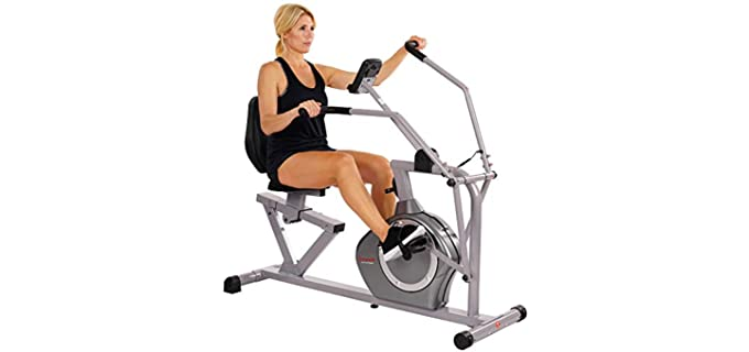 Sunny Health Fitness Magnetic - Stationary Bike for Senior Persons