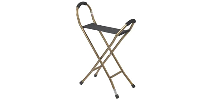 Drive Medical Sling Cane and Seat - Senior Cane with Seat