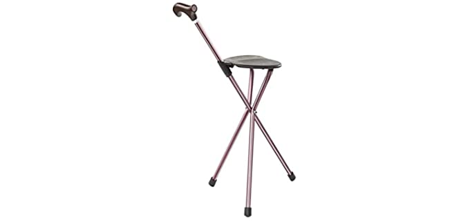 Switch Sticks Adjustable - Lightweight Cane with Seat for Seniors