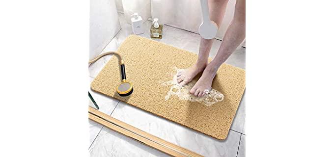 Asvin Textured - Non-Slip Shower Mat for Seniors
