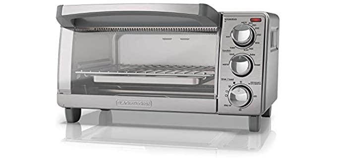 Black and Decker Four Slice - Toaster Oven for Seniors