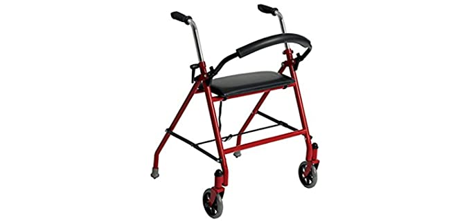 Drive Medical Two Wheeled - Walker for Seniors