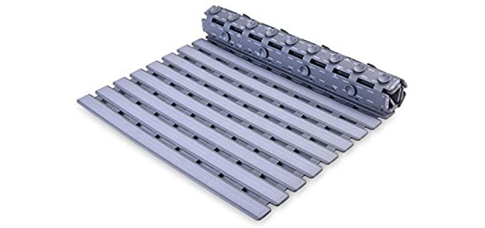 Frmmy Floor Mat - Drain Hole Non-Slip Shower Mat for Seniors