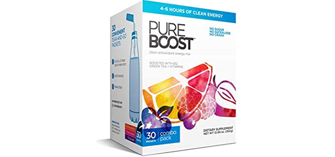 Pureboost Clean - Sugar Free Energy Drink for Seniors