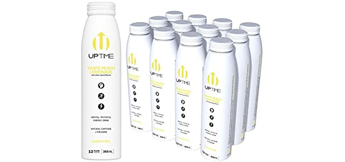Uptime White Peach - Energy Lemonade for Seniors
