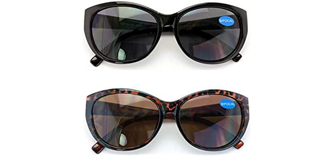 VWE Two Pair - Reading Sunglasses for Seniors