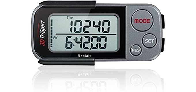 Realalt 3DTriSport - Pedometer for Seniors