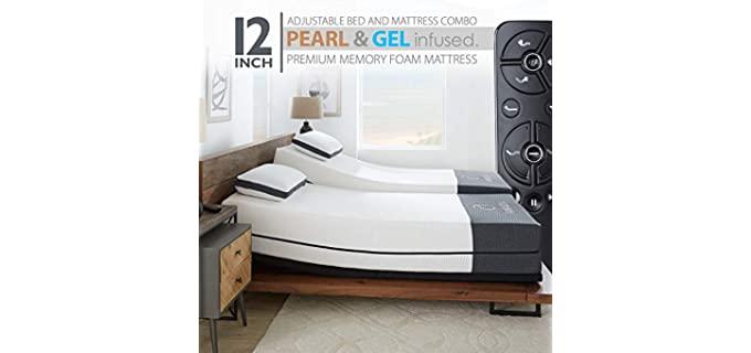 Ananda Pearl and Cool Gel - Memory Foam Adjustable Bed for Seniors