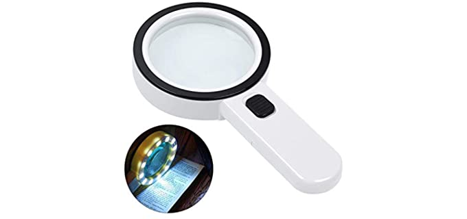 AIXPI Large - 30 X Magnifying Glass for Seniors Persons