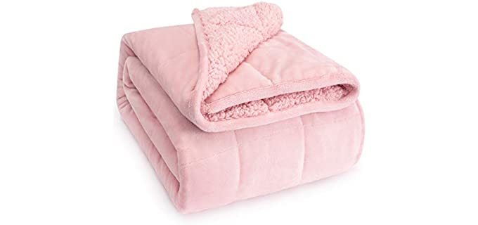 Sivio Sherpa Fleece - Warm Weighted Blanket for Elderly Persons
