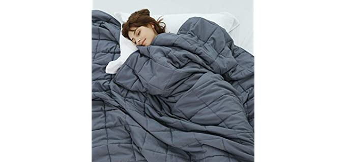 Weighted Idea Cool - Cooling Weighted Blanket for Elderly