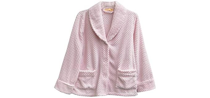 La Cera Honeycomb - Bed Jacket for Seniors