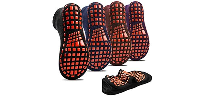 Home Right Breathable - Non-Slip Socks for Seniors
