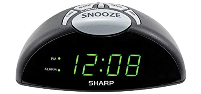 Sharp Easy to See - Alarms Clock for Seniors
