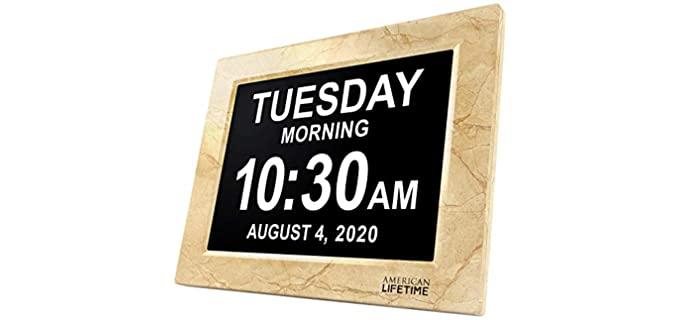 American Lifetime New Version - Calendar Clock for the Elderly