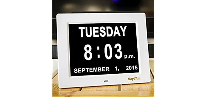 DayClox The Original - Calendar Clock for the Elderly