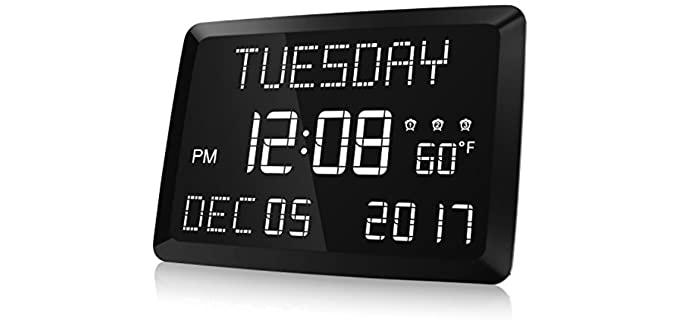 Raynic Digital - Calendar Clock for Seniors