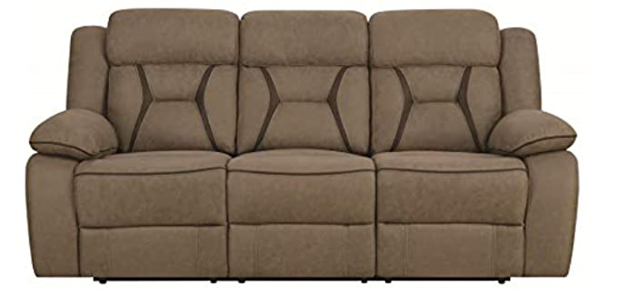Houston Motion Contrast Stitch - High Sofa for the Elderly