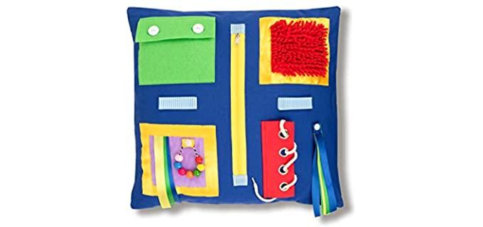 La Marquesita Two Sided - Fidget Blanket for Elderly Persons