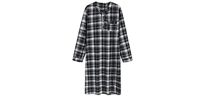 Latuza Cotton - Flannel Nightgown for the Elderly