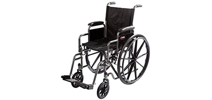 Carex Padded - Lightweight Wheelchair for Seniors