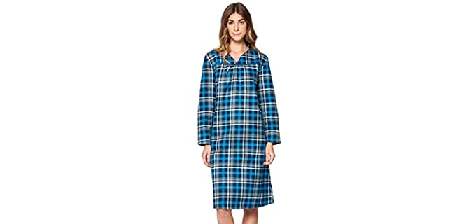 Casual Nights Long Sleeve - Flannel Nightgown