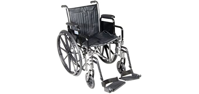 Drive Medical Silver - Rigging Wheelchair for Seniors