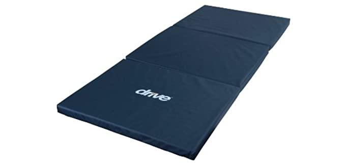 Drive Medical Tri-Fold - Bedside Fall Mat for Seniors
