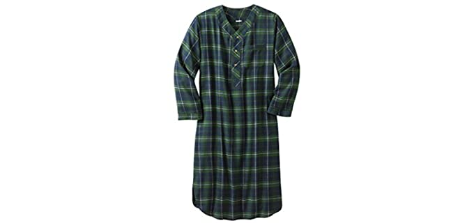 KingSize Big and Tall - Flannel Nightgown