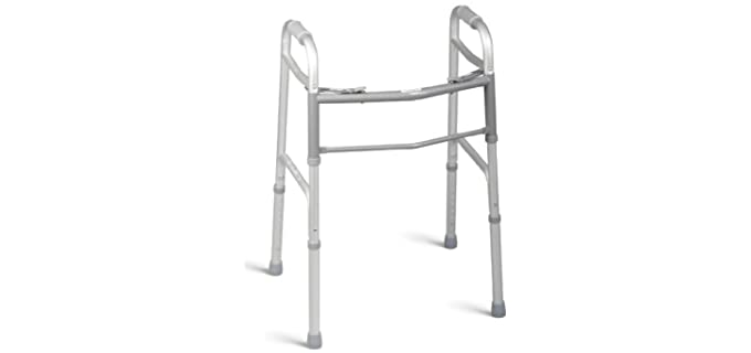 Medline Two Button - Walker for Narrow Spaces