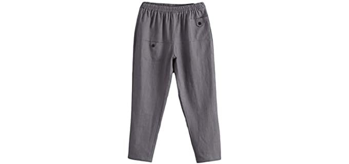 Minibee Casual - Elastic Waist Pants for the Elderly