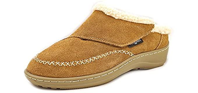 Orthofeet Charlotte - Non-Slip Adjustable Slippers for Seniors