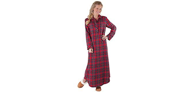 PajamaGram Plaid - Flannel Nightgown