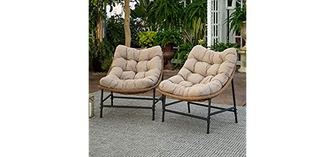 Walker Edison Estrella - Modern Outdoor Chair